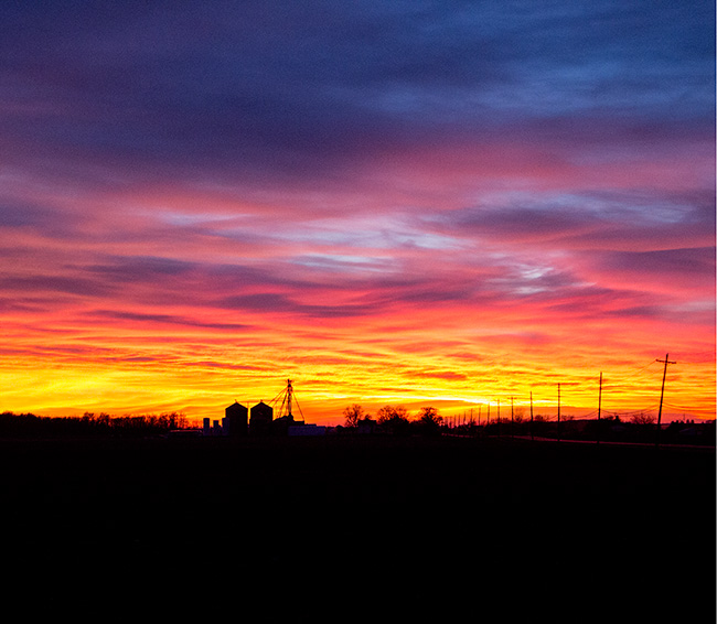 Pettisville Sunset Mar 16 2015